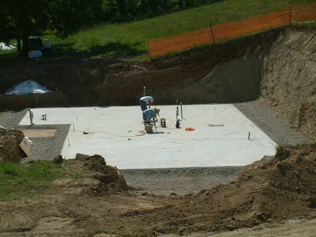 Foundation Slab Completed